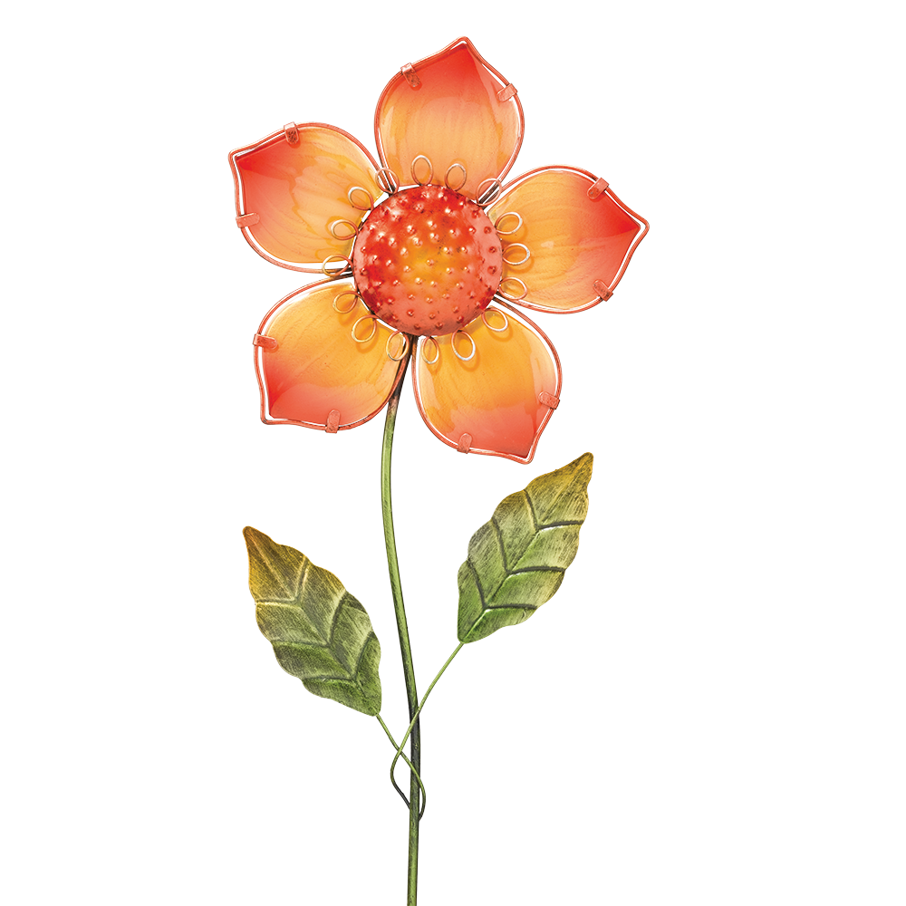 Glasflower Daisy Orange